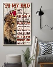 TO MY DAD - SON 11x17 Poster lifestyle-poster-1