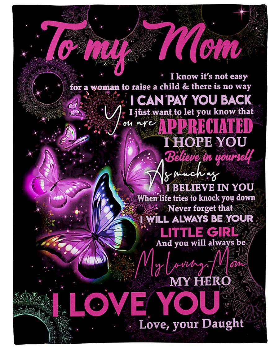"To My Mom - Daughter Large Fleece Blanket - 60"" x 80"""