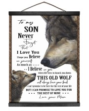 To My Son - Mom 16x20 Black Hanging Canvas thumbnail