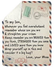"To My Son - Mom Large Sherpa Fleece Blanket - 60"" x 80"" thumbnail"