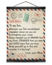 To My Son - Mom 12x16 Black Hanging Canvas thumbnail