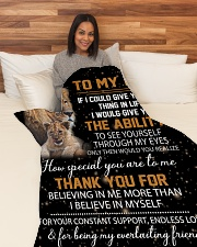 """To My Dad - Daughter Large Fleece Blanket - 60"""" x 80"""" aos-coral-fleece-blanket-60x80-lifestyle-front-05"""