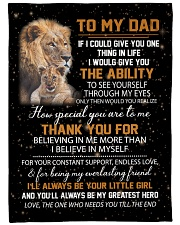 """To My Dad - Daughter Large Fleece Blanket - 60"""" x 80"""" front"""