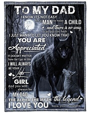 "To My Dad - Daughter Large Fleece Blanket - 60"" x 80"" front"