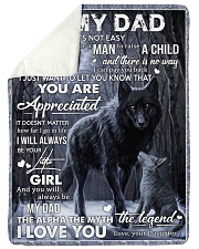 "To My Dad - Daughter Large Sherpa Fleece Blanket - 60"" x 80"" thumbnail"