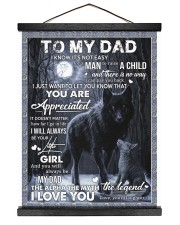 To My Dad - Daughter 16x20 Black Hanging Canvas thumbnail