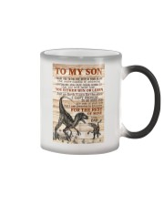 To My  Son - Dad Color Changing Mug tile