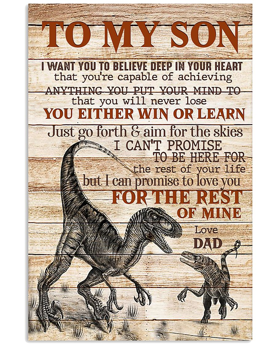 To My  Son - Dad 16x24 Poster