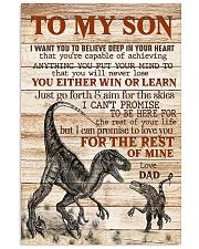 To My  Son - Dad 16x24 Poster front