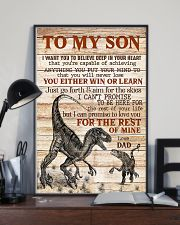 To My  Son - Dad 16x24 Poster lifestyle-poster-2