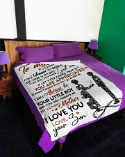 """To My Mom - Son Large Fleece Blanket - 60"""" x 80"""" aos-coral-fleece-blanket-60x80-lifestyle-front-01"""