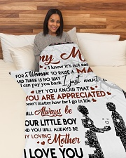 """To My Mom - Son Large Fleece Blanket - 60"""" x 80"""" aos-coral-fleece-blanket-60x80-lifestyle-front-05"""