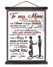To My Mom - Son 16x20 Black Hanging Canvas thumbnail