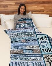 "To My Wife - Husband Large Fleece Blanket - 60"" x 80"" aos-coral-fleece-blanket-60x80-lifestyle-front-05"