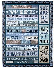 "To My Wife - Husband Large Fleece Blanket - 60"" x 80"" front"