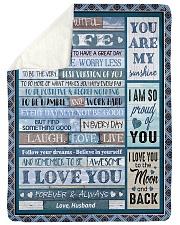 "To My Wife - Husband Large Sherpa Fleece Blanket - 60"" x 80"" thumbnail"