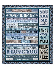 """To My Wife - Husband Quilt 60""""x70"""" - Twin thumbnail"""