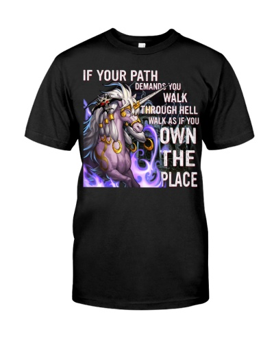 Walk as if you own the place