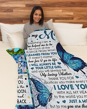 """To My Mom - Daughter Large Fleece Blanket - 60"""" x 80"""" aos-coral-fleece-blanket-60x80-lifestyle-front-05"""
