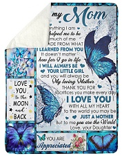 """To My Mom - Daughter Large Sherpa Fleece Blanket - 60"""" x 80"""" thumbnail"""