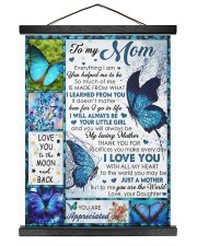 To My Mom - Daughter 16x20 Black Hanging Canvas thumbnail