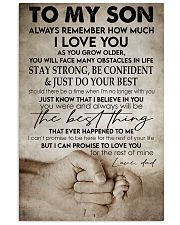 To my son -Dad Vertical Poster tile
