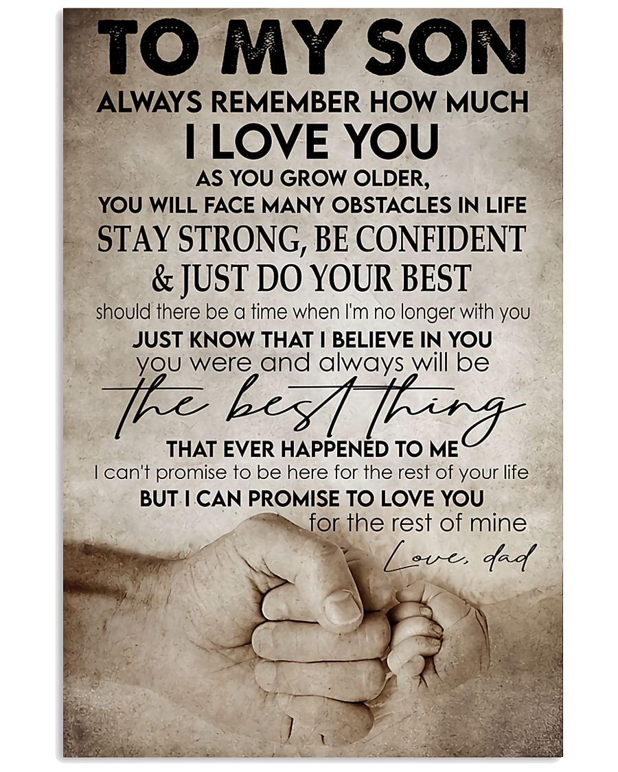To my son -Dad 16x24 Poster