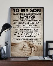 To my son -Dad 16x24 Poster lifestyle-poster-2