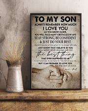 To my son -Dad 16x24 Poster lifestyle-poster-3