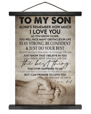 To my son -Dad 16x20 Black Hanging Canvas thumbnail
