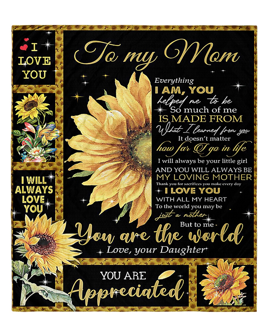 """To My Mom - Daughter Quilt 60""""x70"""" - Twin"""