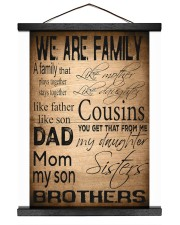 WE ARE FAMILY 16x20 Black Hanging Canvas thumbnail