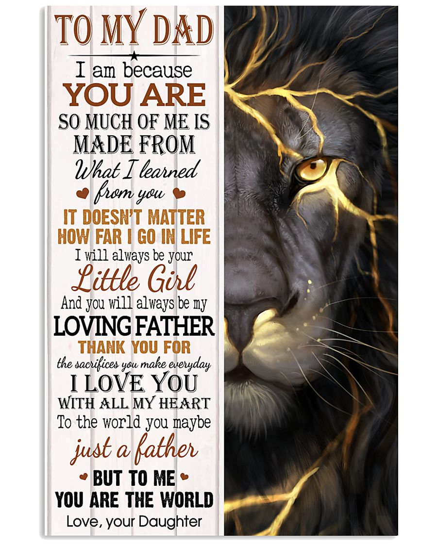 TO MY DAD - DAUGHTER 11x17 Poster