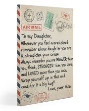 To My Daughter - Mom  20x30 Gallery Wrapped Canvas Prints thumbnail