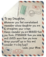 "To My Daughter - Mom  Large Sherpa Fleece Blanket - 60"" x 80"" thumbnail"