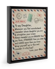 To My Daughter - Mom  11x14 Black Floating Framed Canvas Prints thumbnail