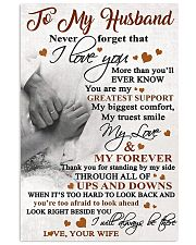 To My Husband - Wife 11x17 Poster front