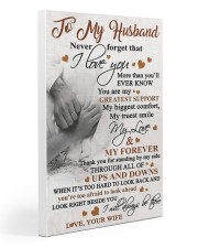 To My Husband - Wife 20x30 Gallery Wrapped Canvas Prints thumbnail
