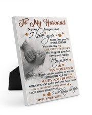 To My Husband - Wife 8x10 Easel-Back Gallery Wrapped Canvas thumbnail