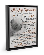 To My Husband - Wife 11x14 Black Floating Framed Canvas Prints thumbnail