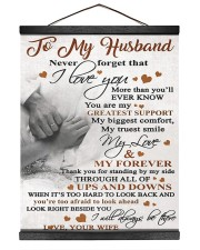 To My Husband - Wife 16x20 Black Hanging Canvas thumbnail