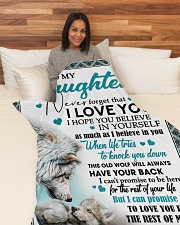 """To My Daughter - Mom Large Fleece Blanket - 60"""" x 80"""" aos-coral-fleece-blanket-60x80-lifestyle-front-05"""