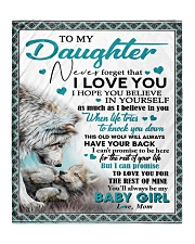 """To My Daughter - Mom Quilt 50""""x60"""" - Throw thumbnail"""