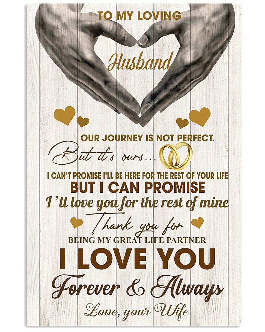 To My Loving Husband - WIfe 11x17 Poster