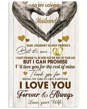 To My Loving Husband - WIfe 11x17 Poster front