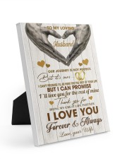 To My Loving Husband - WIfe 8x10 Easel-Back Gallery Wrapped Canvas thumbnail