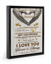 To My Loving Husband - WIfe 11x14 Black Floating Framed Canvas Prints thumbnail