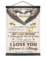 To My Loving Husband - WIfe 12x16 Black Hanging Canvas thumbnail