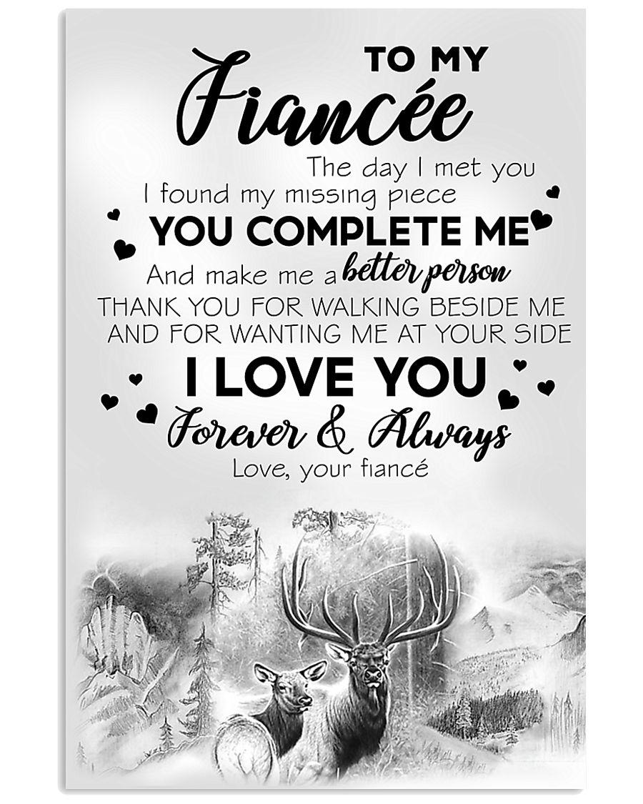 To My  Fiancée 16x24 Poster