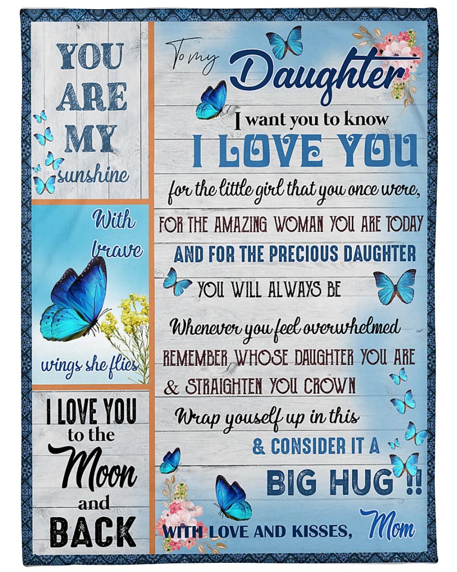 "To My Daughter - Mom  Large Fleece Blanket - 60"" x 80"""